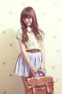 Denim-h-skirt-floral-print-clothinc-shirt