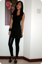 Dorothy Perkins dress - Zara leggings - Syrup shoes