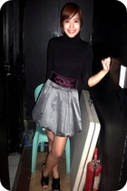 Mango top - Izzue Hong Kong skirt - K2 belt - vintage dior purse