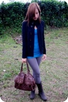 Zara jacket - abercrombie and fitch top - Nooz Bangkok leggings - Rusty Lopez bo
