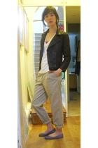 Topshop jacket - Topshop pants - American Apparel t-shirt - Topshop shoes