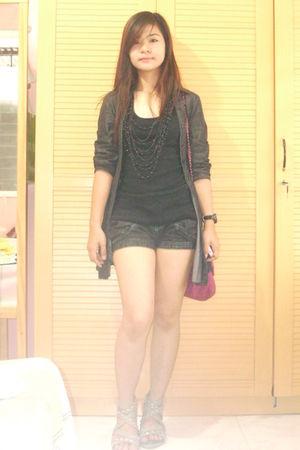 blazer - blouse - shorts