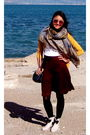 Gray-vivienne-westwood-boots-black-ukrainian-tights-red-zara-skirt-blue-vi