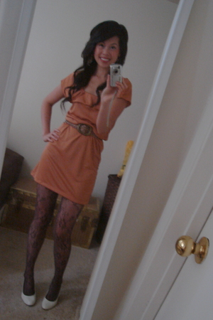 JCPennys tights - predictions shoes - sears belt - Walmart dress