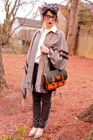 vintage scarf - Dooney & Bourke bag - Urban Outfitters heels - H&M pants - Zara