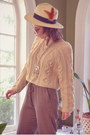 Tawny-urban-outfitters-shoes-off-white-forever21-hat-beige-sheinside-sweater