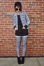 Heather-gray-floral-oviesse-leggings-light-blue-acid-wash-jc-penny-jacket