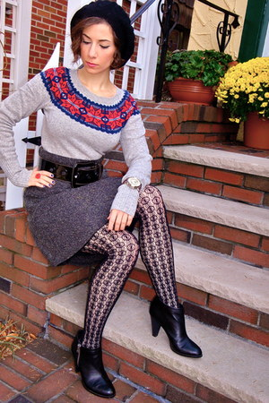 American Eagle sweater - Jcrew tights - Urban Outfitters skirt
