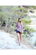 maroon Stella McCartney dress - heather gray turban lanvin hat