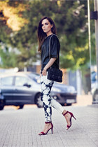 white pepito Isabel Marant jeans - brick red Celine shoes - black fw 13 IRO bag