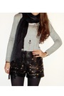 Zara-sweater-vintage-shorts-h-m-tights-zara-scarf