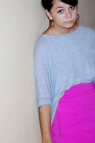 hot pink Zara skirt