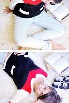 light blue jeans Mango jeans - red claudines col H&M shirt - black Vans sneakers