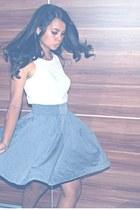 violet stars Mango skirt