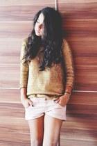 gold Zara sweater