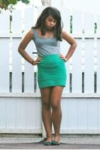 pull&bear skirt - Mango top - Zara flats