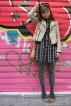 Urban Outfitters jacket - Urban Outfitters dress - H&M sweater - some shop in At