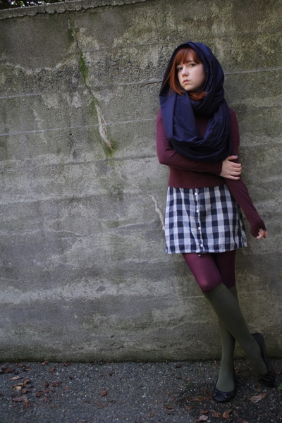 aa scarf - Gap sweater - some shop in Japan dress - Target tights - Thank You Ma