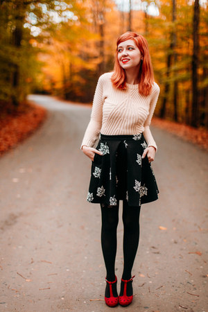 Chicwish skirt - asos sweater - modcloth heels