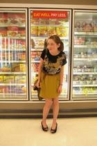 Secondhand shirt - American Apparel skirt - seychelles shoes - purse