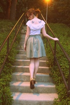 vintage dress - Urban Outfitters skirt - Madden Girl shoes