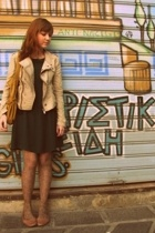 Urban Outfitters jacket - H&M dress - Calzedonia tights - Urban Outfitters shoes