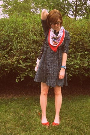 H&amp;M dress - scarf - Blowfish shoes - Urban Outfitters accessories