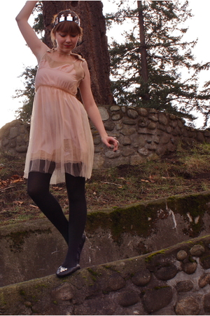 black Bona Drag shoes - pink Rodarte for Target dress - black Walmart tights