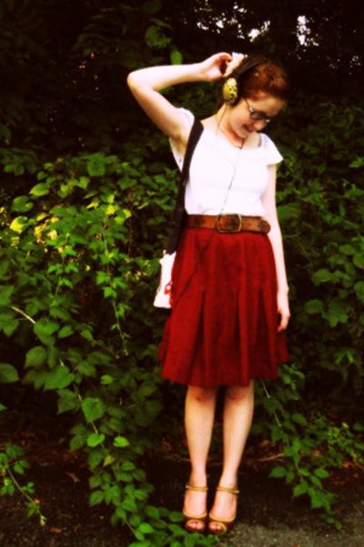 dress - skirt - Madden Girl shoes - belt