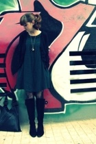 H&M sweater - H&M dress - some shop in Athens tights - shop in Athens shoes - Ru