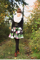 H&M jacket - YarnOverMovement scarf - Betsey Johnson dress - Walmart tights - se