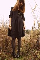 blue H&M dress - black Urban Outfitters tights - black Bloch shoes - gold Marc b