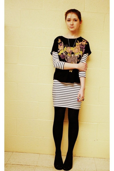 Secondhand shirt - H&M dress - gift tights - H&M shoes