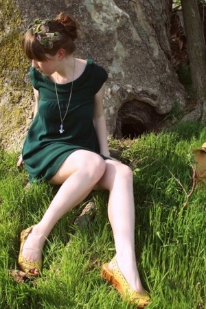 H&M dress - vintage accessories - Kenneth Cole Reaction shoes - Pull and Bear pu