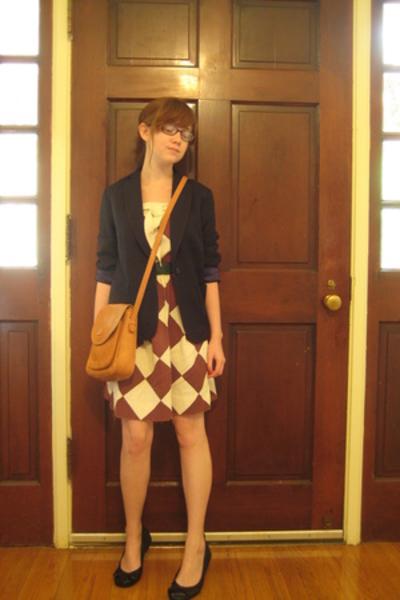 dress - Ralph Lauren blazer - purse - belt