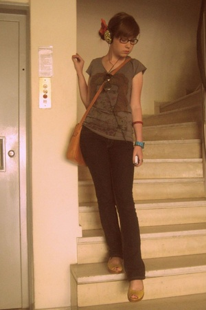 Zara shirt - pants - Secondhand purse - Kenneth Cole Reaction shoes