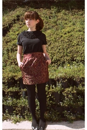 Vain and Vapid shirt - forever 21 skirt - Walmart tights - H&M shoes