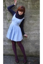 American Apparel scarf - Banana Republic Outlet sweater - Secondhand dress - Tar