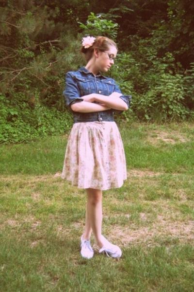 calvin klein jacket - Secondhand skirt - H&M shoes