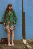 H&M jacket - Ruche purse - H&M dress - Urban Outfitters shoes
