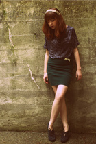 Urban Outfitters shirt - American Apparelmerican Apparel skirt - vintage accesso