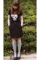 Urban Outfitters skirt - In4mation shirt - Pull and Bear purse - Thank You Mart
