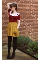 red American Apparel dress - black Urban Outfitters shoes - black Walmart tights