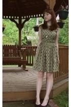 H&M sweater - vintage dress - H&M shoes - Shop Ruche purse