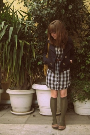 H&M jacket - some shop in Japan dress - Thank You Mart tights - Urban Outfitters