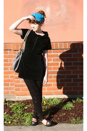 vintage accessories - vintage dress - H&M leggings - Bona Drag shoes - shopruche