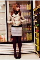 H&M sweater - Urban Outfittersers jacket - H&M dress - gift tights - H&M shoes