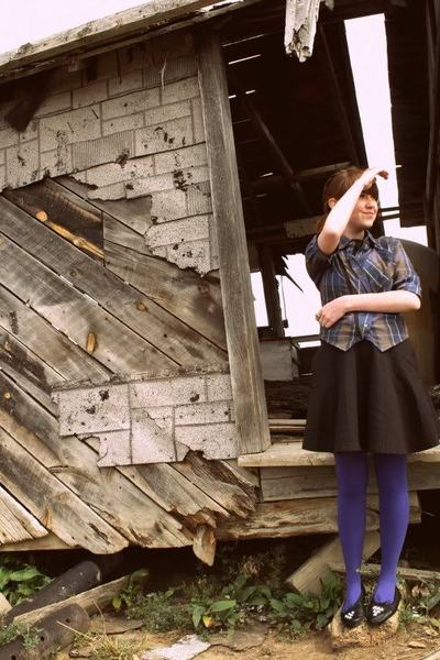 Sample jacket - Urban Outfitters dress - Urban Outfitters tights - Bona Drag sho