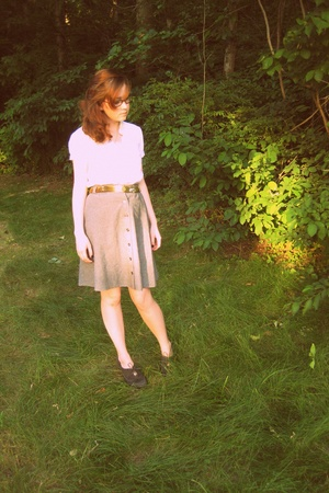 Urban Outfitters shirt - skirt - belt - Nine West shoes