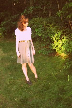 Urban Outfitters shirt - skirt - belt - Nine West shoes